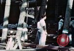 Image of Launch of USS Hancock (CV-19) at Fore River Shipyard, Massachusetts Quincy Massachusetts USA, 1944, second 1 stock footage video 65675055341