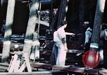 Image of Launch of USS Hancock (CV-19) at Fore River Shipyard, Massachusetts Quincy Massachusetts USA, 1944, second 3 stock footage video 65675055341