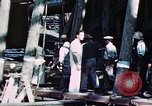 Image of Launch of USS Hancock (CV-19) at Fore River Shipyard, Massachusetts Quincy Massachusetts USA, 1944, second 10 stock footage video 65675055341