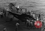 Image of Destroyed TBM Avenger  aircraft Pacific Ocean, 1944, second 8 stock footage video 65675055343
