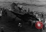 Image of Destroyed TBM Avenger  aircraft Pacific Ocean, 1944, second 10 stock footage video 65675055343