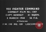 Image of German fighter aircraft European Theater, 1944, second 3 stock footage video 65675055396