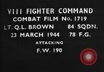Image of Focke Wulf 190 European Theater, 1944, second 1 stock footage video 65675055408