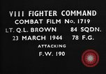 Image of Focke Wulf 190 European Theater, 1944, second 2 stock footage video 65675055408