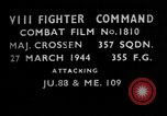Image of German aircraft European Theater, 1944, second 3 stock footage video 65675055415