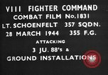 Image of Junker JU-88 European Theater, 1944, second 1 stock footage video 65675055419
