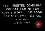 Image of Focke Wulf 190 European Theater, 1944, second 2 stock footage video 65675055421