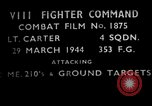 Image of ground targets European Theater, 1944, second 1 stock footage video 65675055423