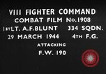 Image of Focke Wulf 190 European Theater, 1944, second 1 stock footage video 65675055426