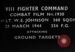 Image of ground targets European Theater, 1944, second 4 stock footage video 65675055428