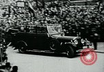Image of Paul Von Hindenburg with Hitler in open car Berlin Germany, 1933, second 6 stock footage video 65675055498