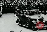 Image of Paul Von Hindenburg with Hitler in open car Berlin Germany, 1933, second 9 stock footage video 65675055498