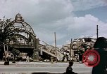 Image of bomb damaged railway station Berlin Germany, 1945, second 2 stock footage video 65675055526