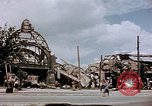 Image of bomb damaged railway station Berlin Germany, 1945, second 8 stock footage video 65675055526