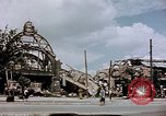 Image of bomb damaged railway station Berlin Germany, 1945, second 9 stock footage video 65675055526