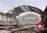 Image of bomb damage Berlin Germany Anhalter Bahnhof station, 1945, second 2 stock footage video 65675055531
