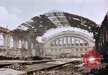 Image of bomb damage Berlin Germany Anhalter Bahnhof station, 1945, second 5 stock footage video 65675055531