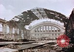 Image of bomb damage Berlin Germany Anhalter Bahnhof station, 1945, second 6 stock footage video 65675055531
