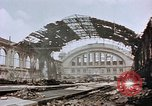 Image of bomb damage Berlin Germany Anhalter Bahnhof station, 1945, second 7 stock footage video 65675055531
