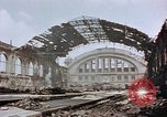 Image of bomb damage Berlin Germany Anhalter Bahnhof station, 1945, second 8 stock footage video 65675055531