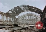 Image of bomb damage Berlin Germany Anhalter Bahnhof station, 1945, second 9 stock footage video 65675055531