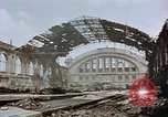 Image of bomb damage Berlin Germany Anhalter Bahnhof station, 1945, second 10 stock footage video 65675055531