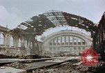 Image of bomb damage Berlin Germany Anhalter Bahnhof station, 1945, second 11 stock footage video 65675055531