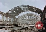Image of bomb damage Berlin Germany Anhalter Bahnhof station, 1945, second 12 stock footage video 65675055531
