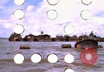 Image of barge complex Vietnam Cua Lon River, 1969, second 2 stock footage video 65675055540