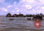 Image of barge complex Vietnam Cua Lon River, 1969, second 3 stock footage video 65675055540