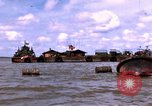 Image of barge complex Vietnam Cua Lon River, 1969, second 4 stock footage video 65675055540