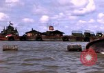 Image of barge complex Vietnam Cua Lon River, 1969, second 5 stock footage video 65675055540