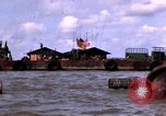 Image of barge complex Vietnam Cua Lon River, 1969, second 6 stock footage video 65675055540