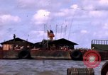 Image of barge complex Vietnam Cua Lon River, 1969, second 7 stock footage video 65675055540