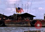 Image of barge complex Vietnam Cua Lon River, 1969, second 8 stock footage video 65675055540