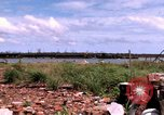 Image of barge complex Vietnam Cua Lon River, 1969, second 11 stock footage video 65675055540
