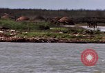 Image of barge complex Cua Lon River Vietnam, 1969, second 11 stock footage video 65675055541