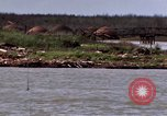 Image of barge complex Cua Lon River Vietnam, 1969, second 12 stock footage video 65675055541