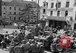Image of American soldiers at French cafe Le Mans France, 1944, second 2 stock footage video 65675055594