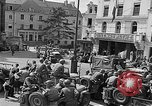 Image of American soldiers at French cafe Le Mans France, 1944, second 3 stock footage video 65675055594