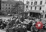 Image of American soldiers at French cafe Le Mans France, 1944, second 4 stock footage video 65675055594
