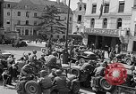 Image of American soldiers at French cafe Le Mans France, 1944, second 5 stock footage video 65675055594