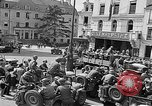 Image of GIs at sidewalk cafe Le Mans France, 1944, second 6 stock footage video 65675055594