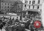 Image of American soldiers at French cafe Le Mans France, 1944, second 7 stock footage video 65675055594