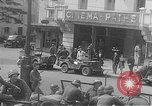 Image of American soldiers at French cafe Le Mans France, 1944, second 8 stock footage video 65675055594