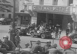 Image of American soldiers at French cafe Le Mans France, 1944, second 9 stock footage video 65675055594