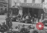 Image of American soldiers at French cafe Le Mans France, 1944, second 10 stock footage video 65675055594