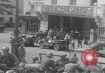 Image of American soldiers at French cafe Le Mans France, 1944, second 11 stock footage video 65675055594