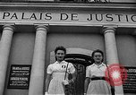 Image of French civilians Le Mans France, 1944, second 11 stock footage video 65675055596