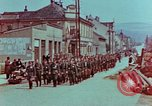 Image of German troops marching to surrender to Western Allies Pilsen Czechoslovakia, 1945, second 3 stock footage video 65675055608